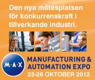 Produktionsmässa med fokus på framtidens verkstadsindustri