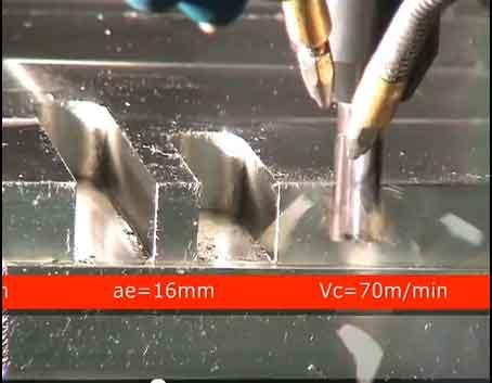 Spårfräsning i rostfritt stål