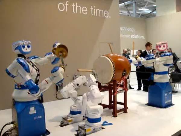 Taiko Drummer Robots