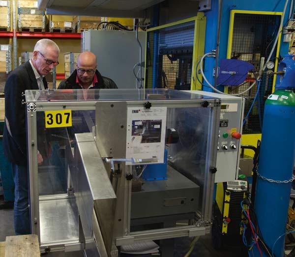 Ombyggd maskin sparar material och tjänar kvalitet