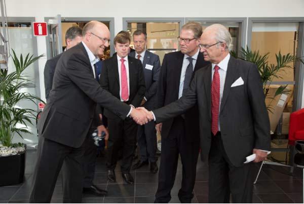 Kung Carl XVI Gustaf och IVA besökte Arcam