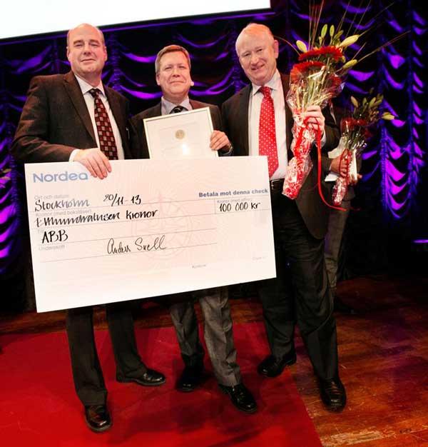ABB vinner Svenska Innovationspriset 2013