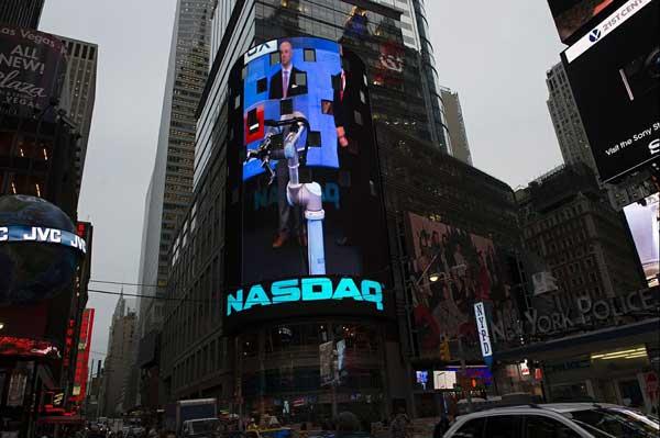Robothand hjälpte till att starta NASDAQ-börsen.