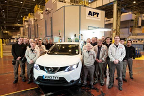 Nissan i Storbritannien ökar takten med hjälp av AP&T