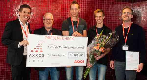 SwePart Transmission vinnare av Axxos Produktivitetspris 2015