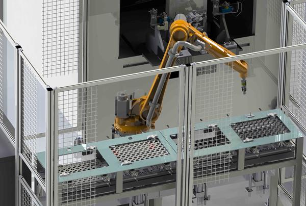 Första installationen av nya roboten till SEM AB i Åmål
