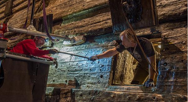Hjälper till att rädda Vasa