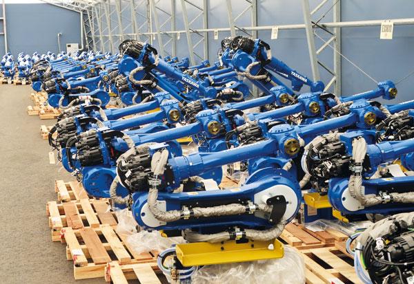 """Småland är centralpunkt för alla """"blåvita"""" robotar som levereras i Europa"""