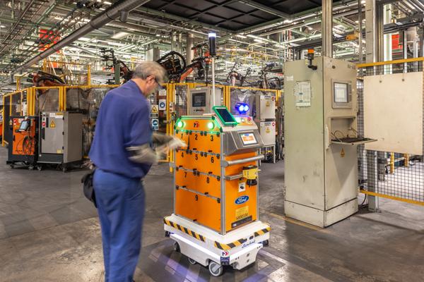Optimerar Fords interna logistik