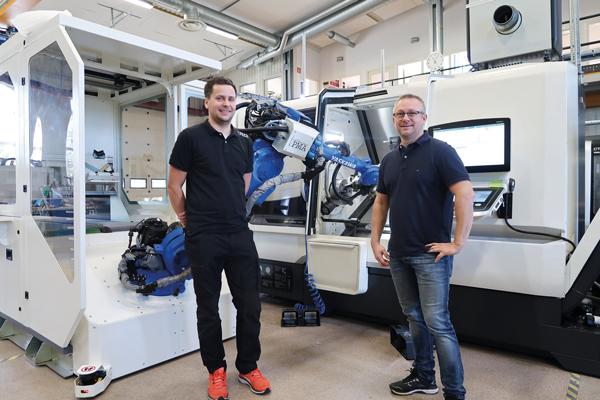 Enkel maskinbetjäning med robot skapar full flexibilitet i verkstaden
