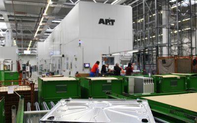 Miele ökade produktionskapaciteten med helautomatiserad 6-presslinje
