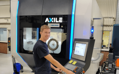 Uddevalla Precisionsindustri AB investerar i ny Axile G8 Gantry 5-Axlig fräsmaskin.
